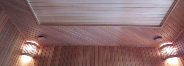 потолок для сауны