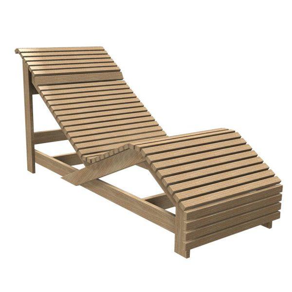 Лежак деревянный
